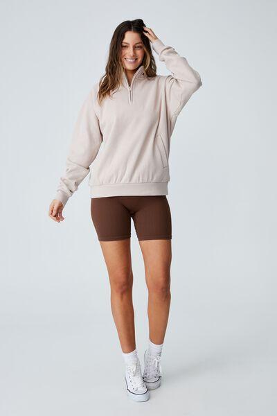 Classic ¼ Zip Sweatshirt, SILVERSTONE