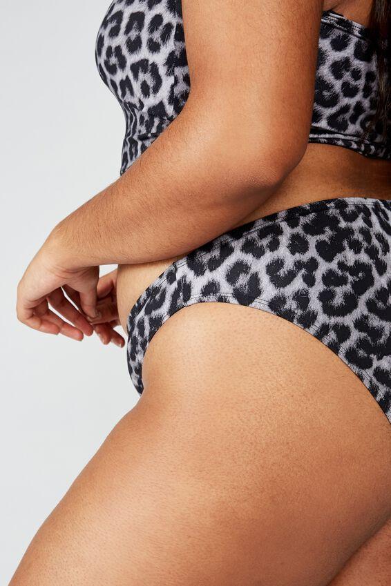 Curve High Side Brazilian Bikini Bottom, ANIMAL