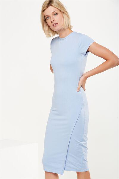 Anthea Short Sleeve Midi Dress, BLUE HAZE