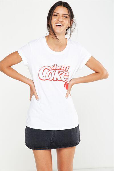 Tbar Fox Graphic T Shirt, LCN CHERRY COKE OUTLINE/WHITE