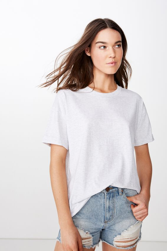 The Relaxed Boyfriend Tee, GREY MARLE