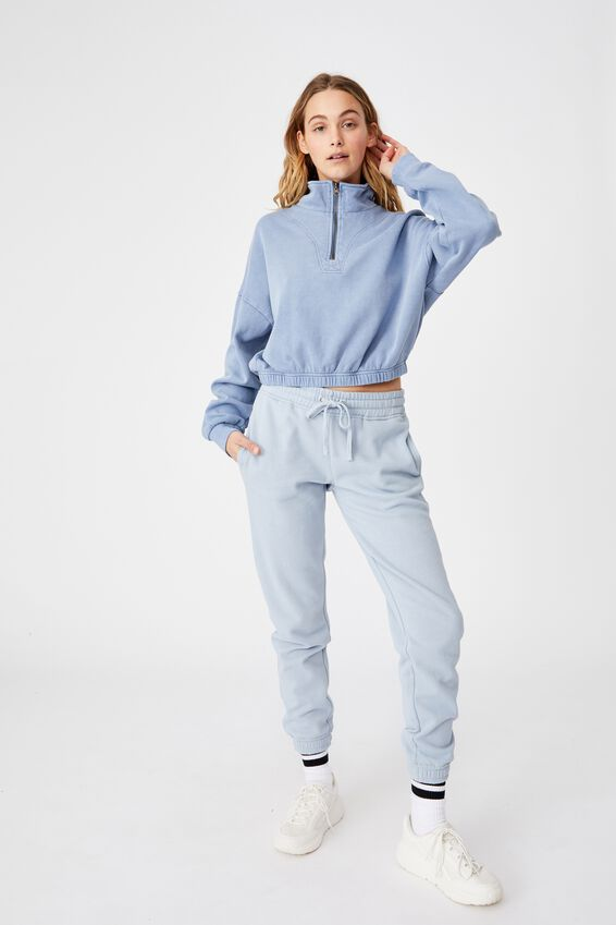 Paris Qtr Zip Through, SKY BLUE