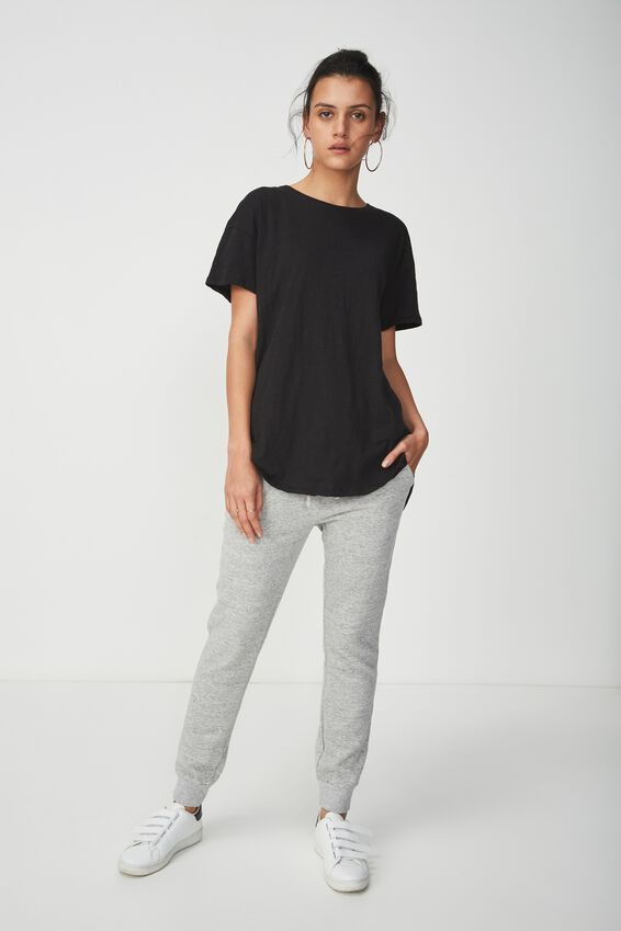 The One Boyfriend Crew Tee, BLACK