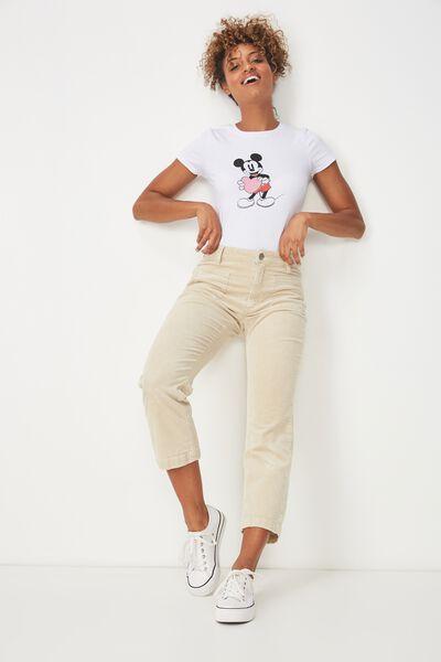 Tbar Hero Graphic T Shirt, LCN MICKEY HEART/WHITE