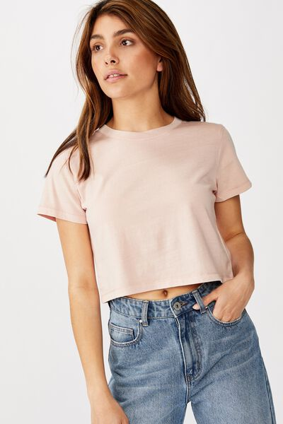 The One Baby Tee, WASHED MISTY ROSE