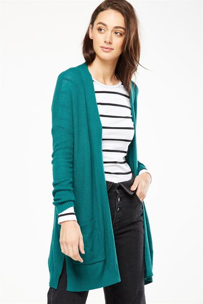 Archy Cardigan, TEAL GREEN
