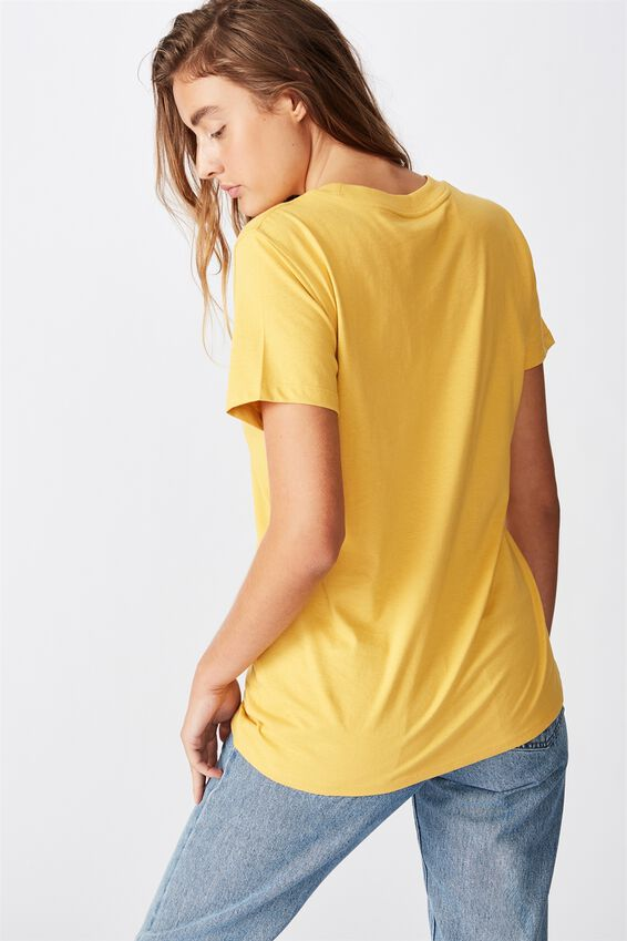Classic Slogan T Shirt, STARDUST/HONEY GOLD