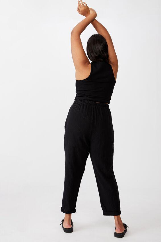 Curve Cali Pull On Pant, BLACK