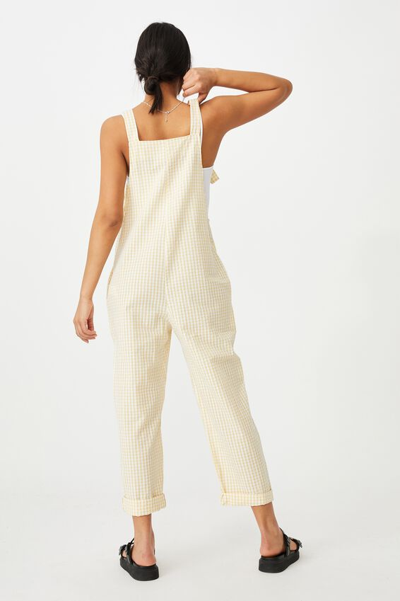 Woven Saige Gingham Jumpsuit, BETHANY GINGHAM CALI YELLOW
