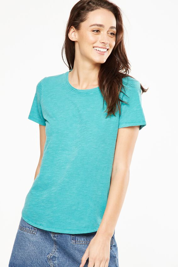 The Crew T Shirt, WASHED PORCELAIN GREEN