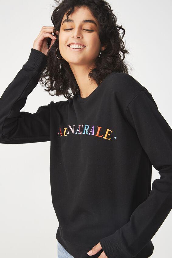 Ferguson Graphic Crew Sweater, AU NATURALE/BLACK