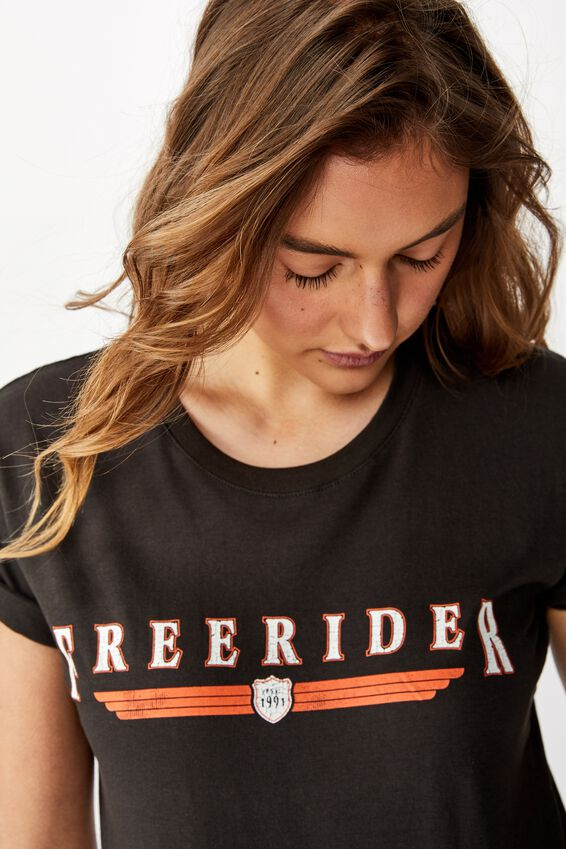 Classic Vintage T Shirt, FREERIDER/WASHED BLACK