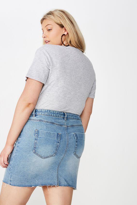 Curve Denim Skirt, BERKLEY BLUE