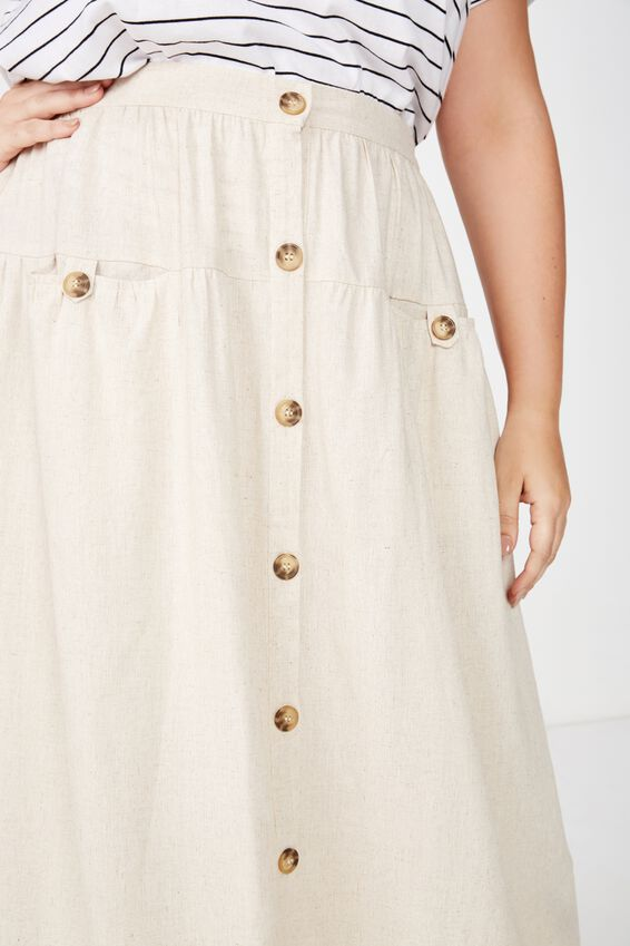 Curve Gathered Willow Skirt, LATTE MARLE
