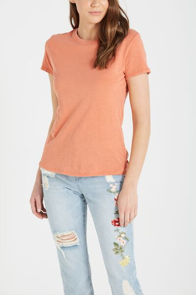 The Crew T Shirt, WASHED BURNT SIENNA