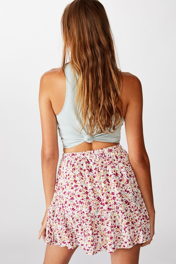Penny Tiered Mini Skirt, BRONTE DITSY MULTI