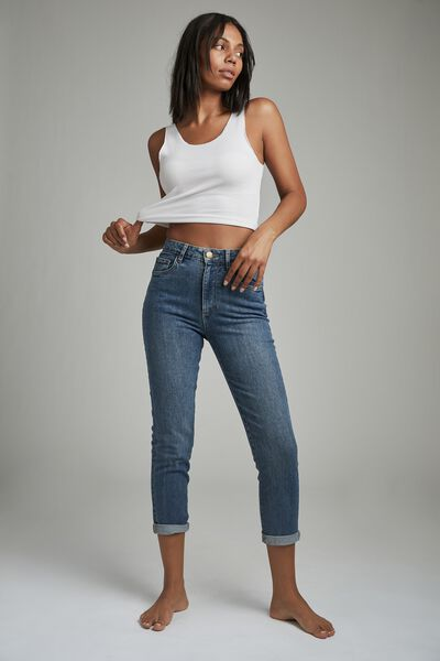 Stretch Mom Jean, LUCKY BLUE