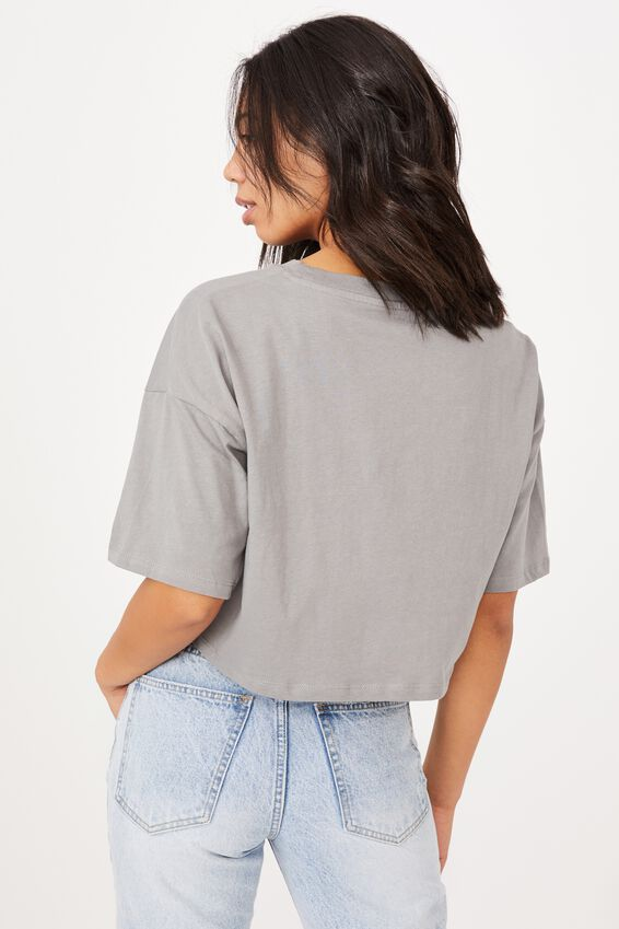 Chopped Boyfriend Tee, JACKSON MOTORS/THUNDER GREY