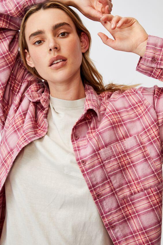 Boyfriend Shirt, LILIA CHECK BLUSH