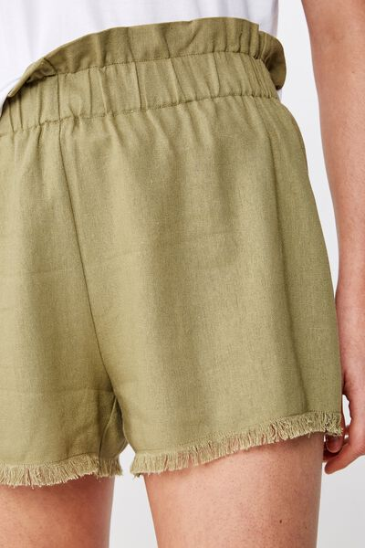 Mila Paperbag Short, LIGHT OLIVE