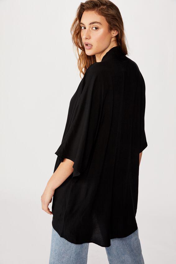 Wanderlust Kimono, BLACK