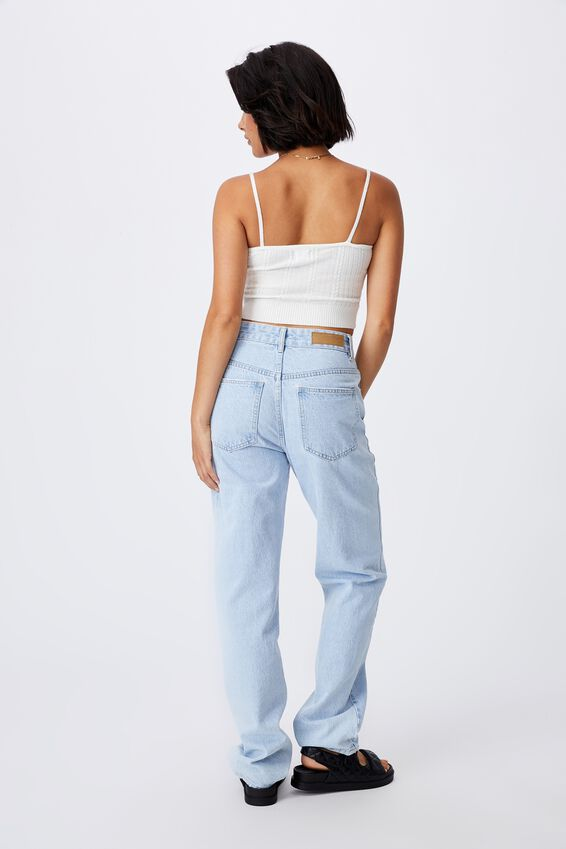 Ultimate Cable Crop Cami, WHITE