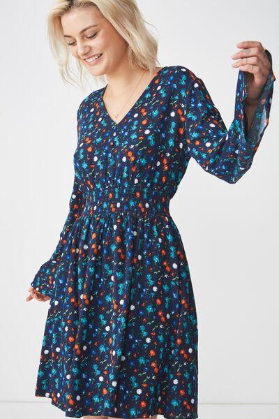 Woven Nadine Tea Dress, DAISY MULTI MOONLIGHT