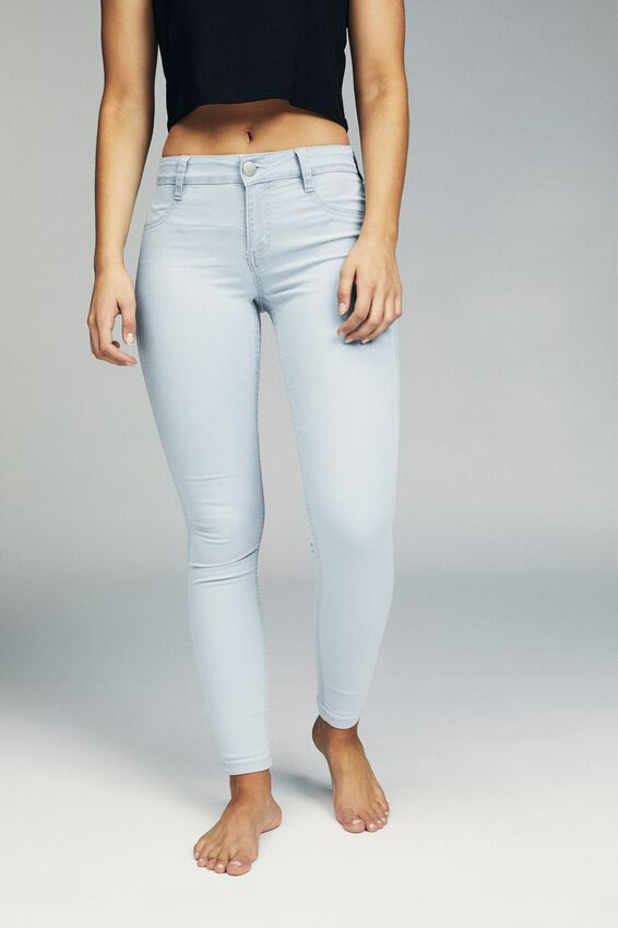 Mid Rise Jegging, BLEACH BLUE