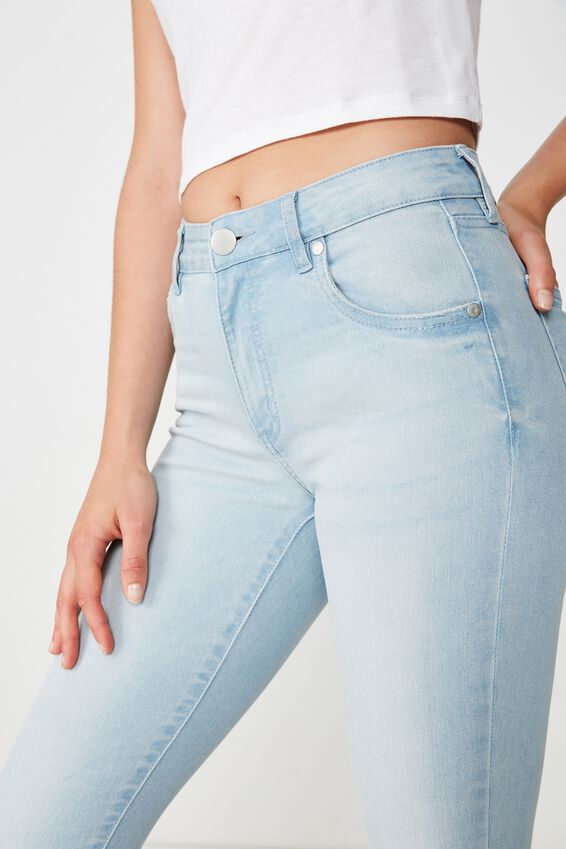 Mid Rise Cropped Skinny Jean, SUMMER LIGHT BLUE