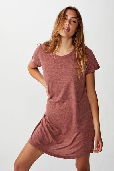 Tina Tshirt Dress 2, MAHOGANY MARLE
