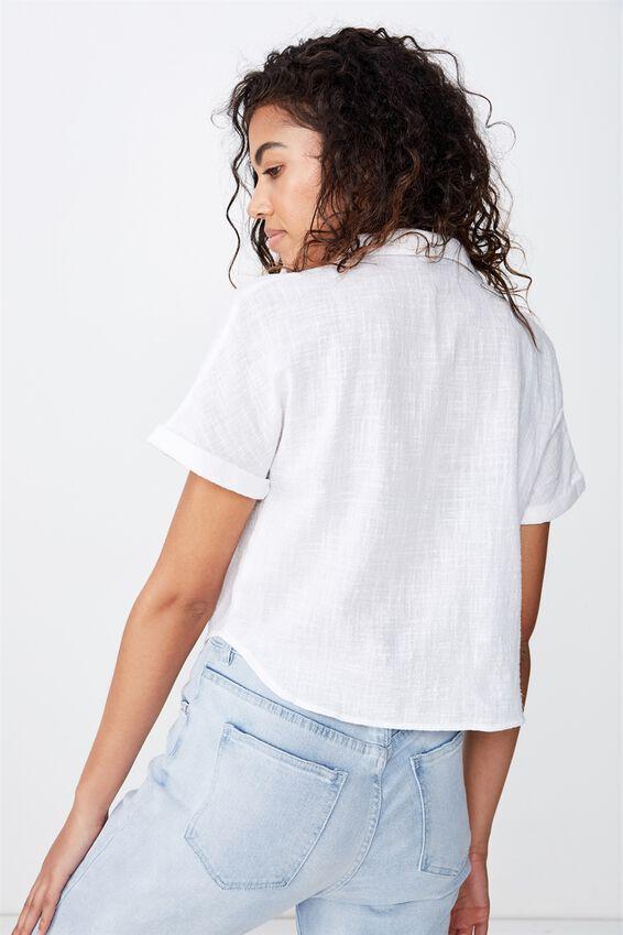 Erin Short Sleeve Shirt, WHITE