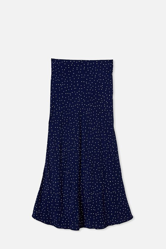 All Day Slip Skirt, EDIE MINI STAR NAVY