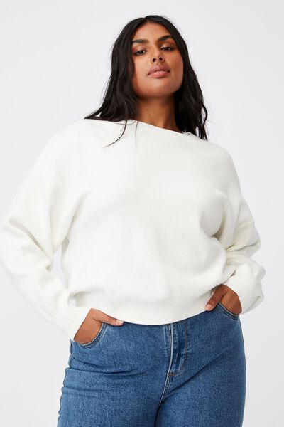 Curve Chloe Luxe Pullover, CLOUD DANCER