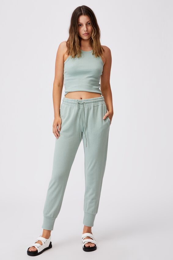 Your Favourite Track Pant, LUSH GREEN GARMENT PIGMENT DYE