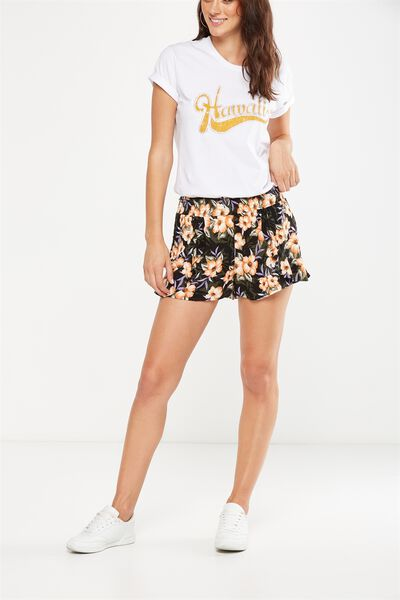 Ellie Short, ILIANA FLORAL JET BLACK