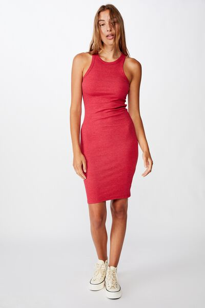 Kirsty Racerback Bodycon Midi Dress, SCOOTER MARLE RIB