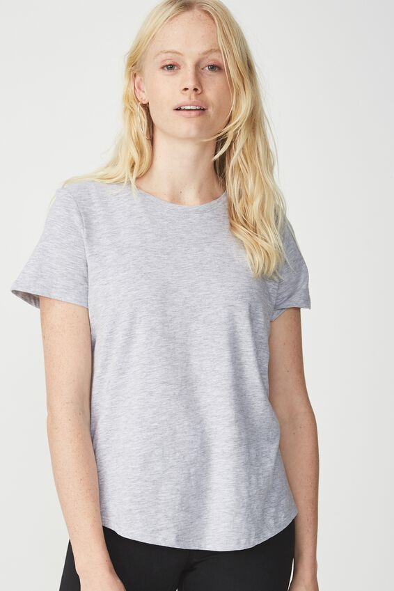 The Crew T Shirt, GREY MARLE