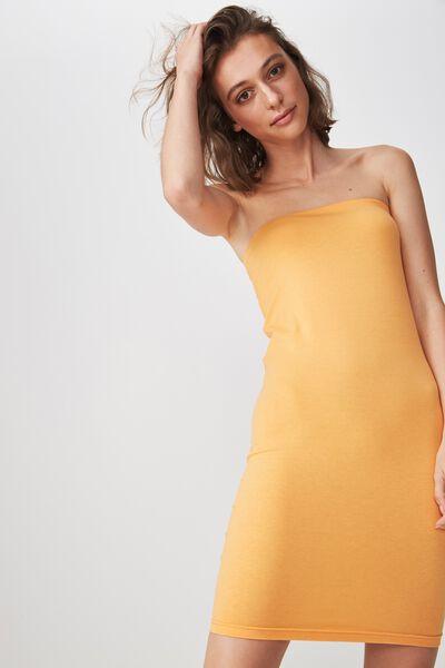 Amy Bandeau Bodycon Mini Dress, ORANGE POP