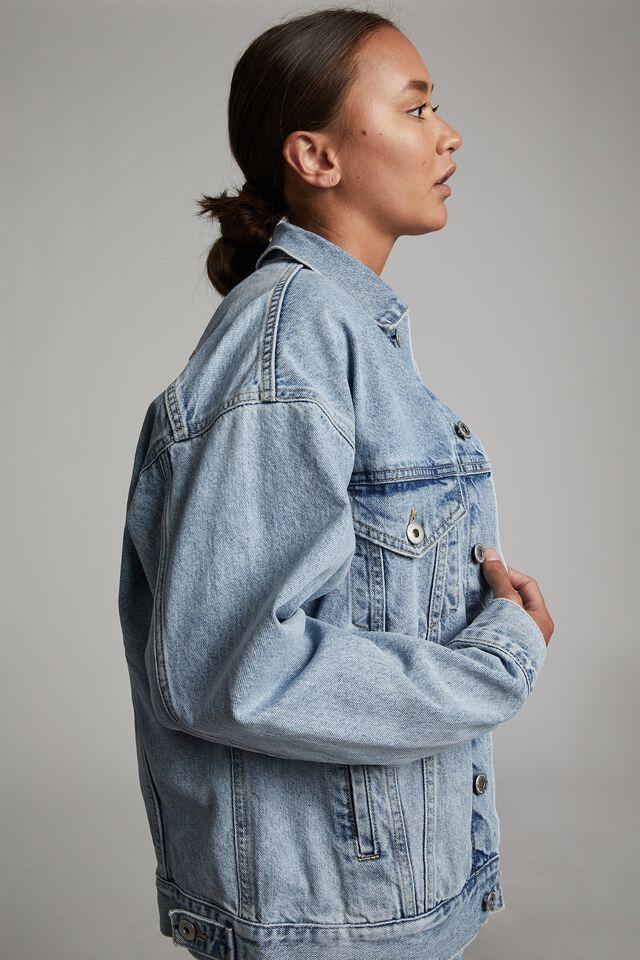 The Oversized Denim Jacket, LENNOX BLUE