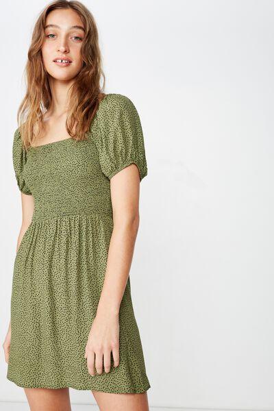Woven Molly Prairie Mini Dress, RIO SPOT WINTER MOSS