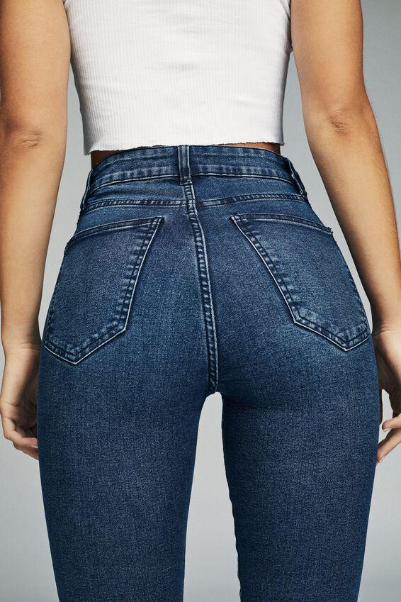 High Rise Skinny Jean, DARK BLUE WASH