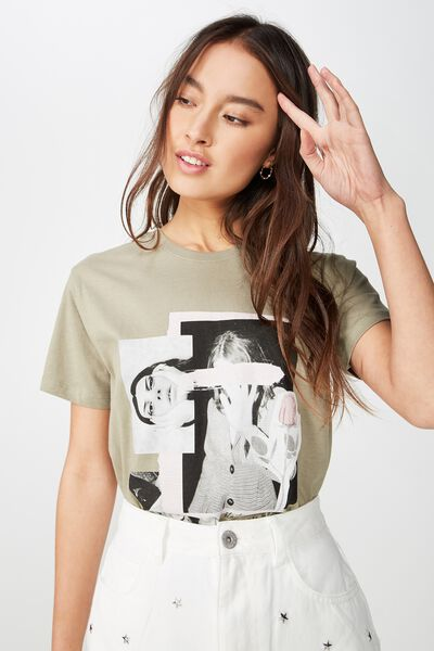 Classic Photo T Shirt, BELLE ROSE/WASHED JUNGLE