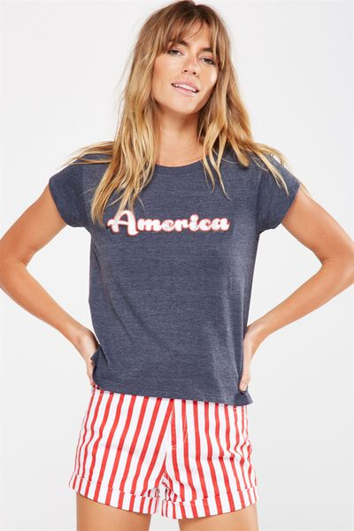 Tbar Friends Graphic Tee, AMERICA/MOONLIGHT MARLE