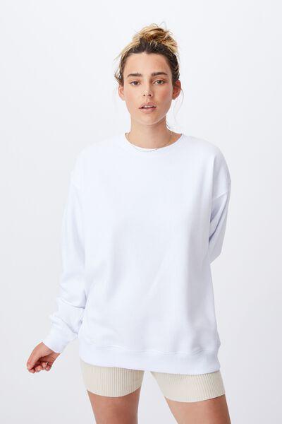 Classic Sweatshirt, WHITE