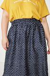 Curve Gathered Skirt, JESSIE DITSY NAVY