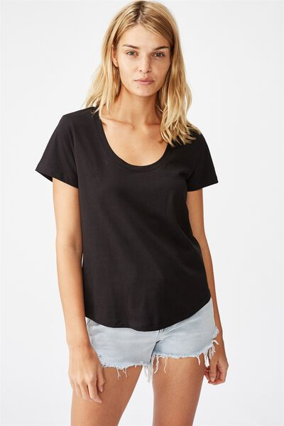 The One Scoop Tee, BLACK
