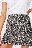 True Bias Mini Skirt, TAYLAH DITSY PIRATE BLACK