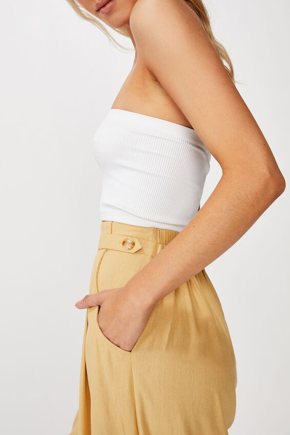 Luna Button Culotte, STRAW