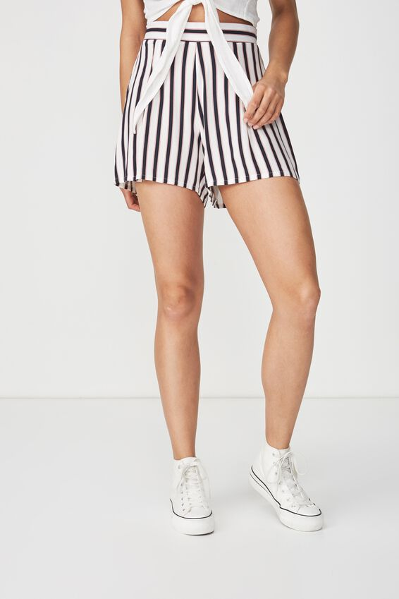 Maya Flirty Short, SANDY STRIPE WHITE