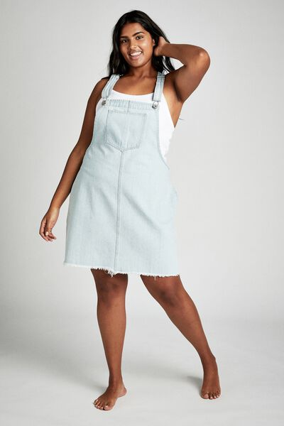 Curve Classic Denim Pinafore, BONDI BLUE